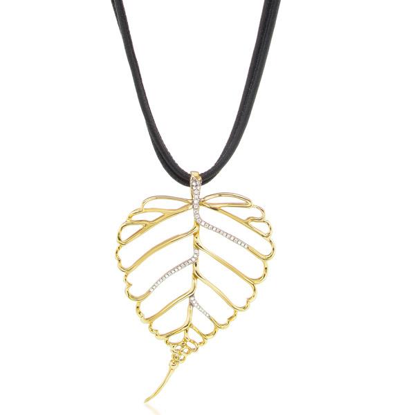 Assaela leaf necklace