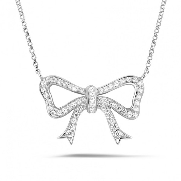 Baunat platinum bow necklace