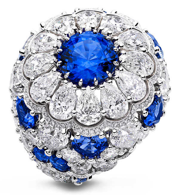 Chopard precious lace sapphire diamond ring