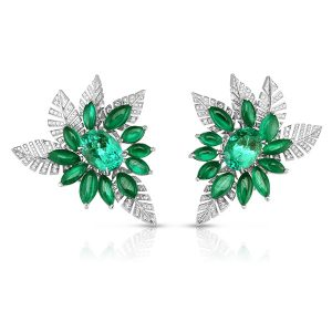 Cicada emerald earrings