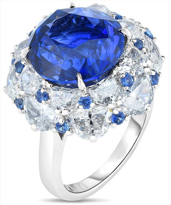 Cicada sapphire diamond ring