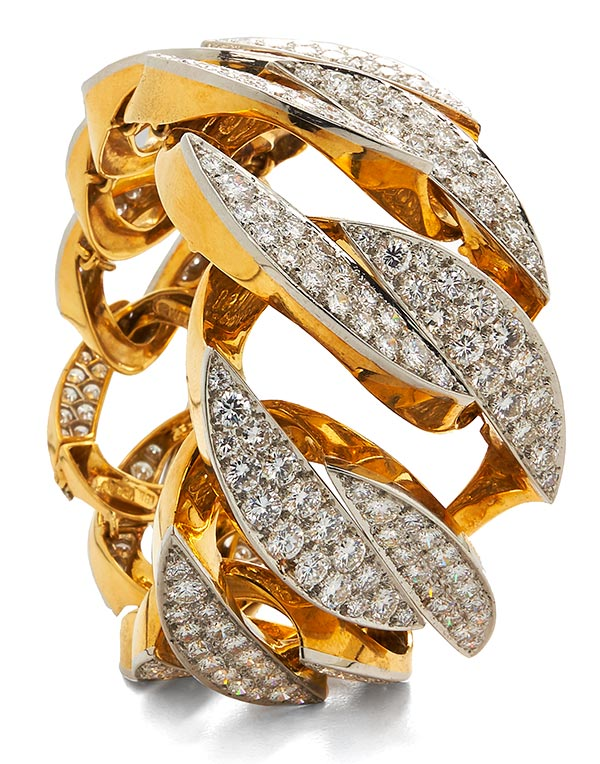 David Webb diamond chain bracelet