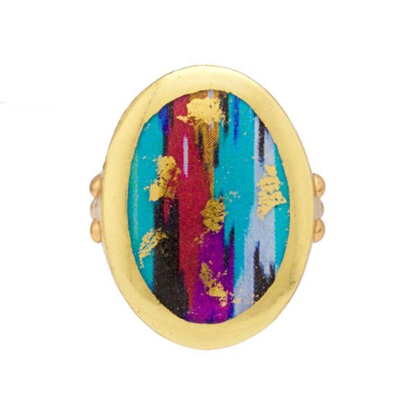 Evocateur Boho Blue Ring