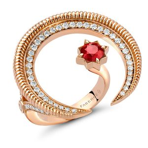 Faberge Gemfields ruby pendant
