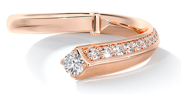 Forevermark Avaanti rose gold bypass ring