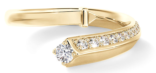 Forevermark Avaanti yellow gold bypass ring