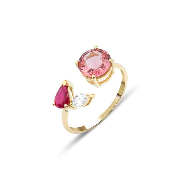 GFG Artisia Pink Leaf Ring