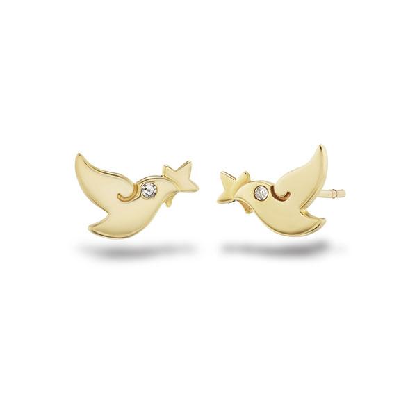 Girl Up dove earrings