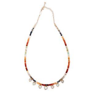 Jacquie Aiche opal hearts necklace