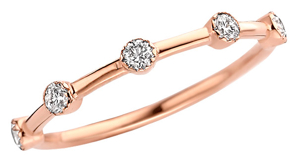 Kimai remi lab grown ring in recycled rose gold