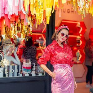 Lele Sadoughi outside her dallas store