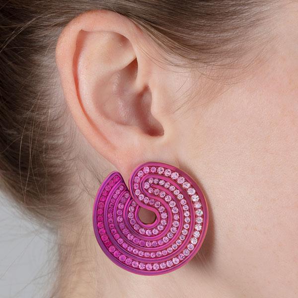 Lily Gabriella swirl earrings