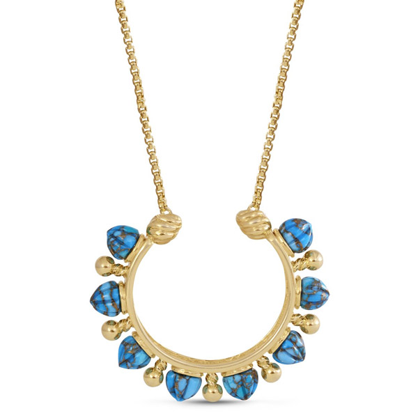 LuvMyJewelry Circle of Fire turquoise necklace