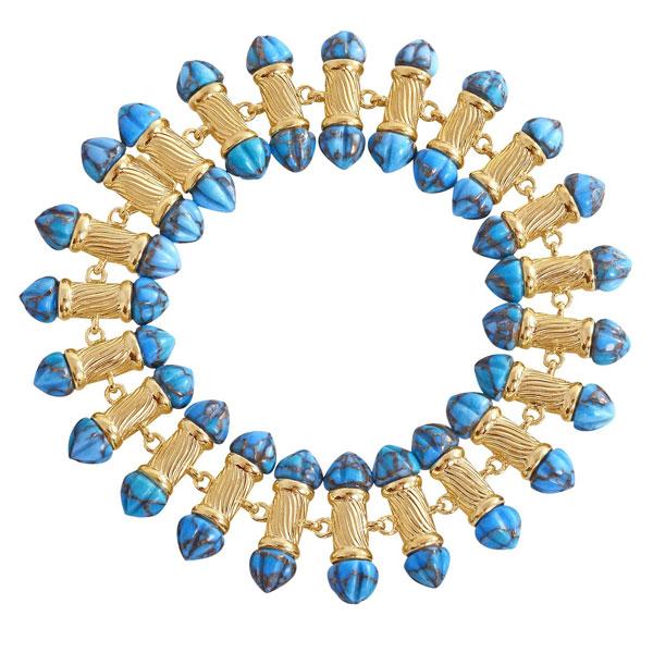 LuvMyJewelry Twisted Rays turquoise bracelet
