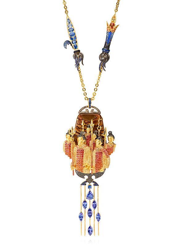 Lydia Courteille terra cotta army necklace