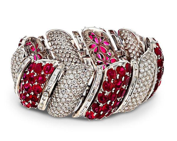 MS Rau Burma Ruby and Diamond Bracelet