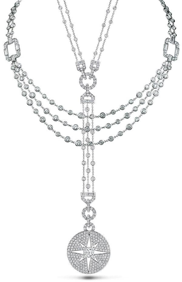 Maria Canale Regatta and Starburst diamond necklaces