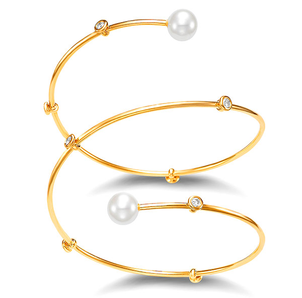 Mastoloni freshwater pearl 18k gold bracelet