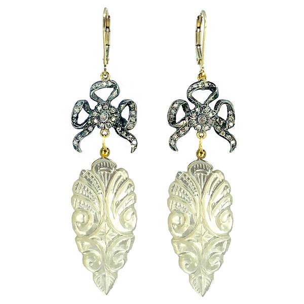 Melinda Lawton MOP bow earrings