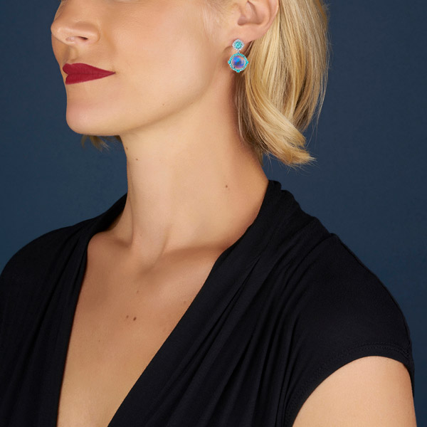 Omi Prive moonstone earrings