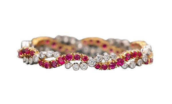 Oscar Heyman at Tiina Smith Ruby and Diamond Bracelet