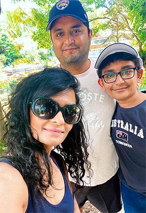 Puja Bordia with family