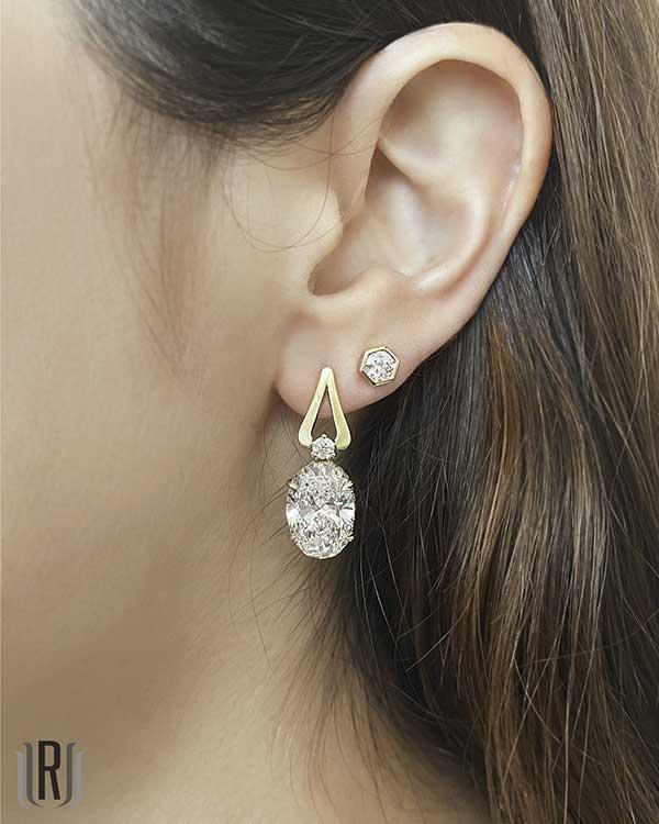 Rahaminov Diamonds earrings