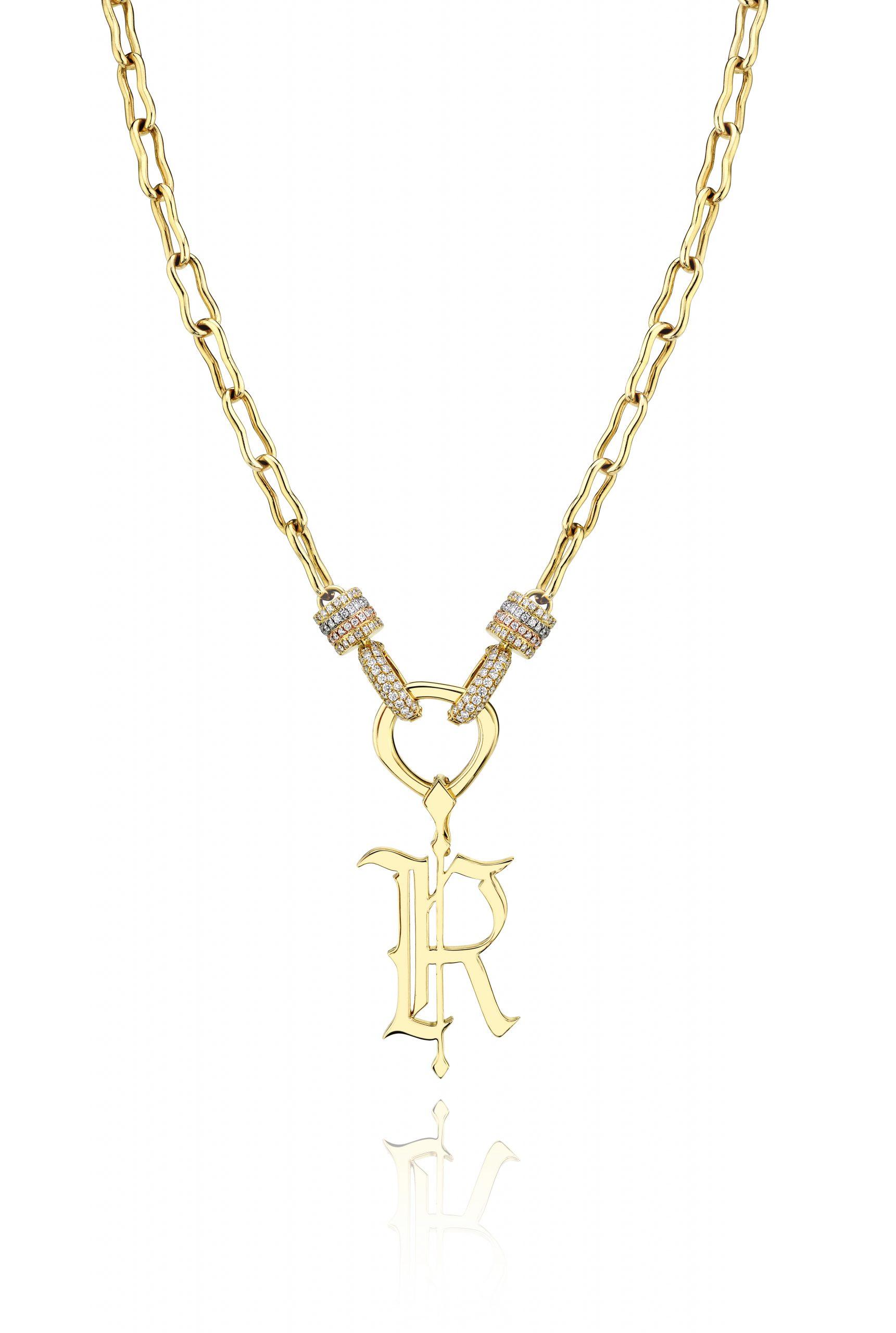 Rosa Van Parys Gothic R pendant