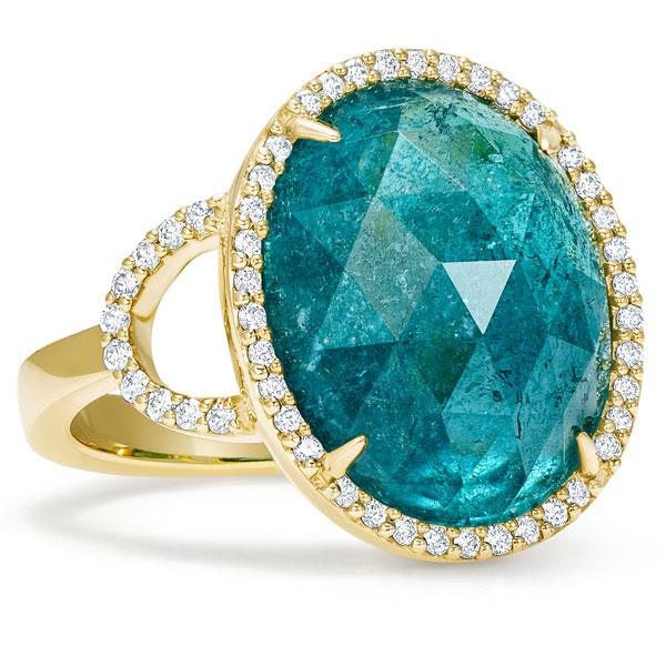 Simon G green tourmaline ring