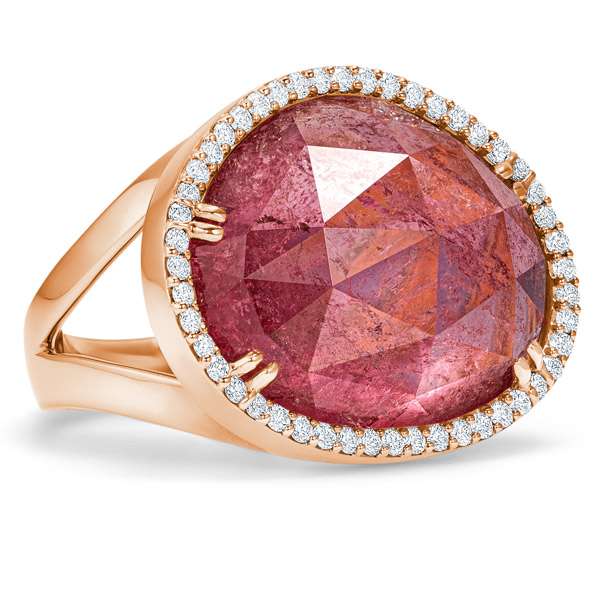 Simon G pink tourmaline ring