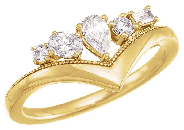 Stuller lab grown diamond V ring