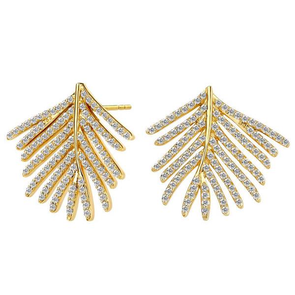 Syna Jewels palm leaf earrings