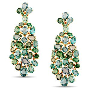 Tresor desir earrings with paraiba tourmaline