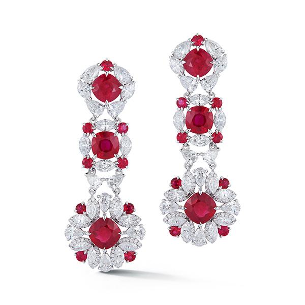 Valani Gemfields ruby earrings