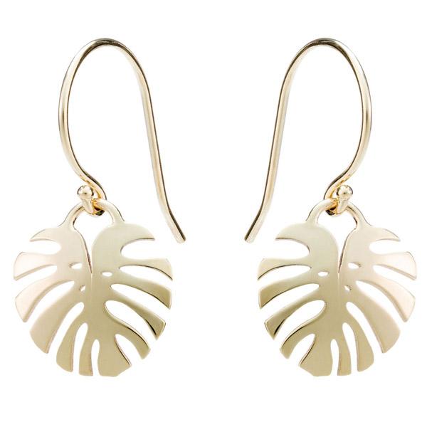 Valerie Madison Monstera leaf earrings