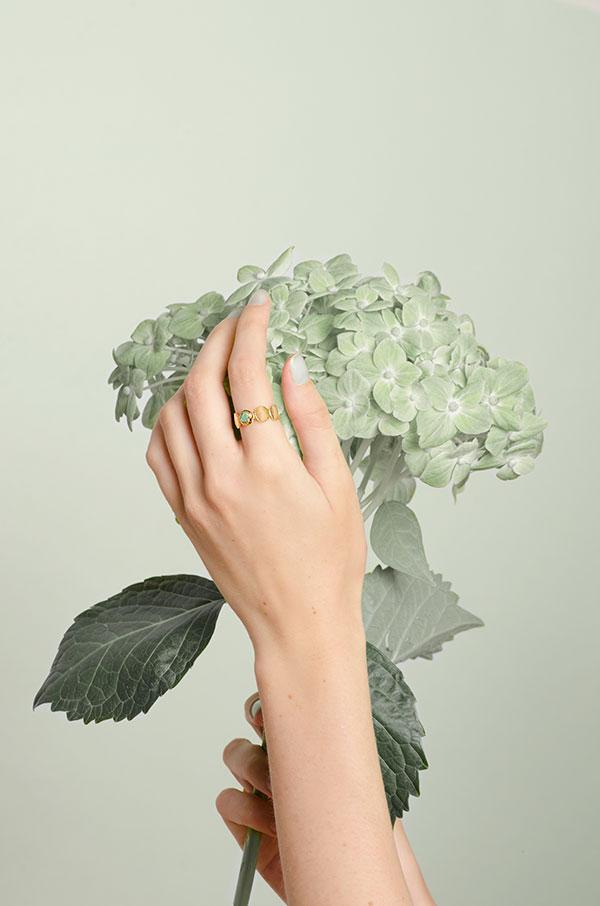 Vanessa Arcila emerald ring