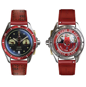911 watch front back