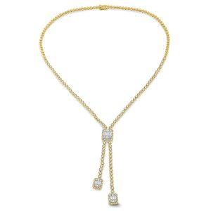 Ashi 18k gold necklace diamonds