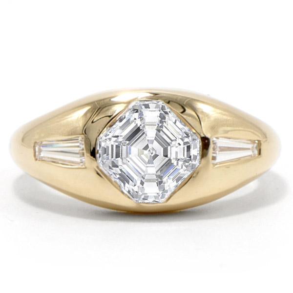 Ashley Zhang Asscher gypsy ring