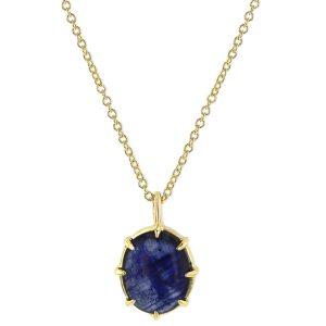 Grace Lee blue sapphire pendant