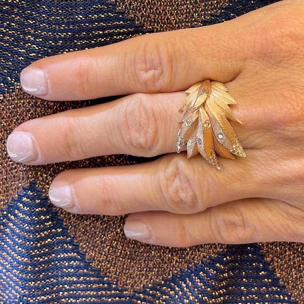 Graziela leaf ring