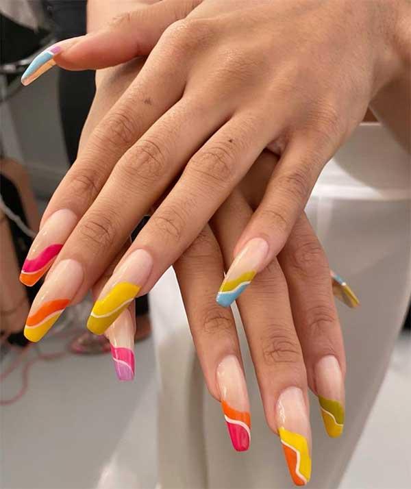 Julie K rainbow nails