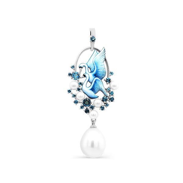 Kabarovsky swan pendant