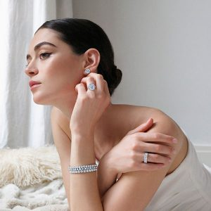 Kwiat Cushion diamond on model
