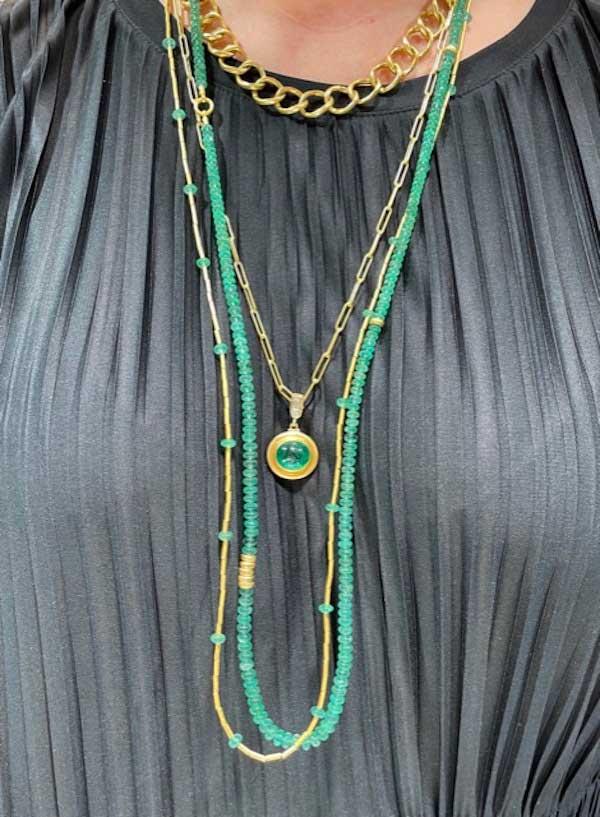 Lika Behar emerald necklaces