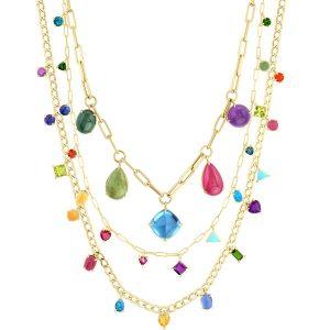 M. Spalten Gemfetti necklaces