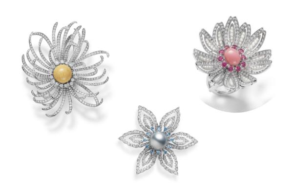 Mikimoto high jewelry brooches