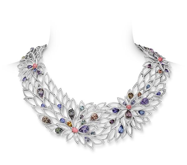 Mikimoto high jewelry chrysanthemum necklace