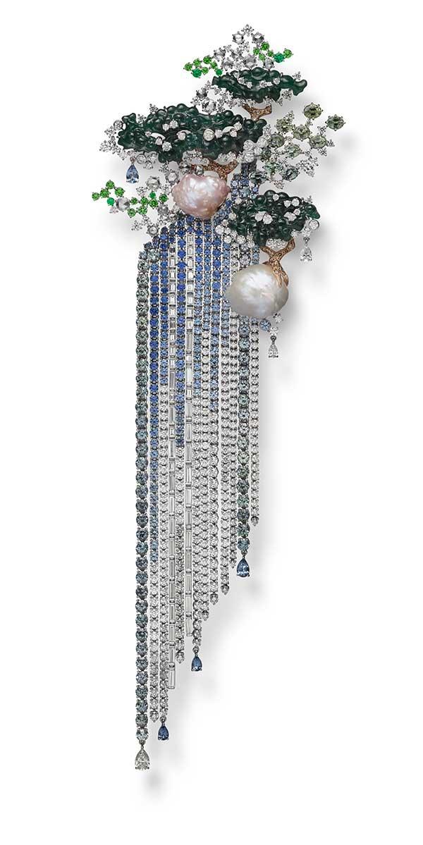 Mikimoto waterfall brooch