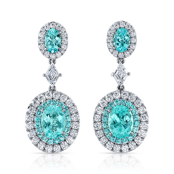 Omi paraiba tourmaline earrings